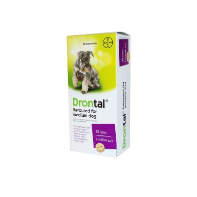 Drontal Allwormer Flavoured Tablets for Medium Dogs - One (1) Tablet