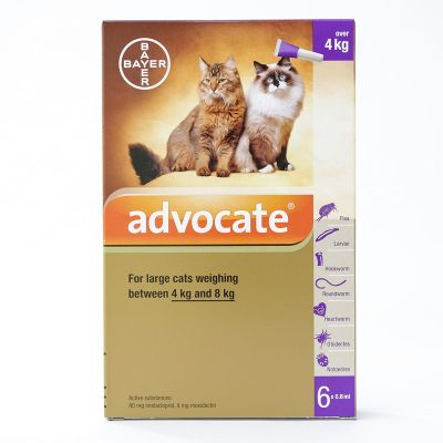 Advocate Large Cat 4-8kg (9-18lbs), 6 Pack